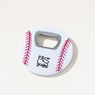 Bull Baseball Magnetic Bottle Opener