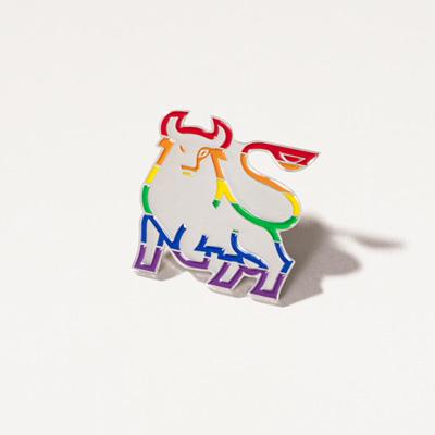 Bull Rainbow Pin