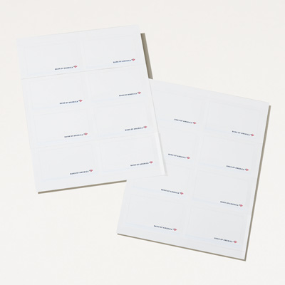 Bank of America Printable Name Tags - 80 Pack