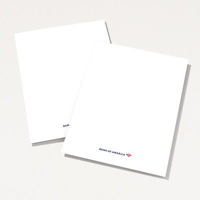 Bank of America Recycled Presentation Folder - 25 Pack