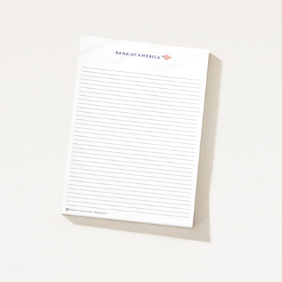 Bank of America 5x7 Notepad - 5 Pack