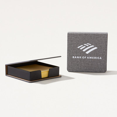 Bank of America Heathered Sticky Notepad Box