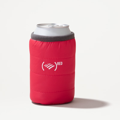 (RED) Puffy Can Cooler