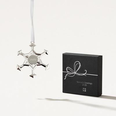 Bull Pewter Snowflake Ornament