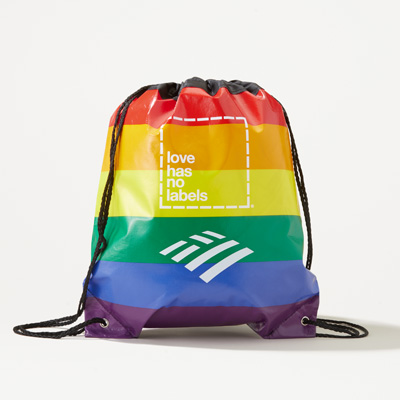 Flagscape Love Has No Labels Rainbow Drawstring Backpack