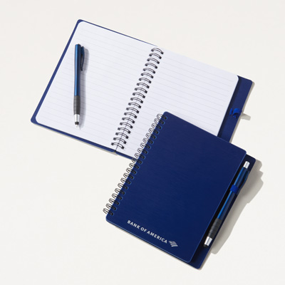 Bank of America Textured Notebook with Pen