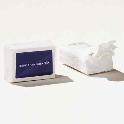 Bank of America Mini Tissue Packet