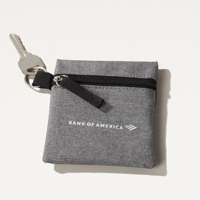 Bank of America Coin and Key Pouch