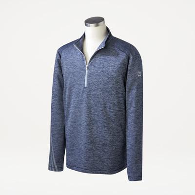 Bull Adidas® Men's Brushed Terry Quarter-Zip Pullover