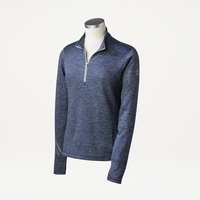 Bull Adidas® Ladies' Brushed Terry Quarter-Zip Pullover