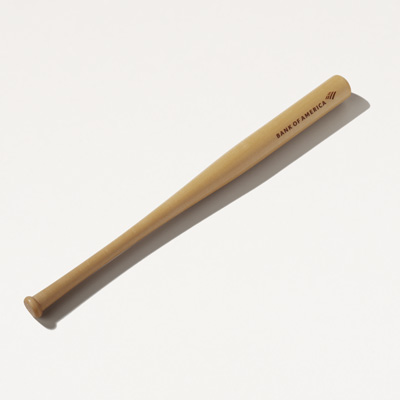 Bank of America Wood Baseball Bat