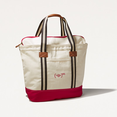 (RED) Cotton Canvas Tote