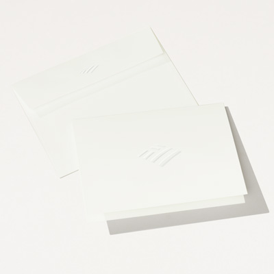 Flagscape Elegant Embossed Folded Note Card - 25 Pack