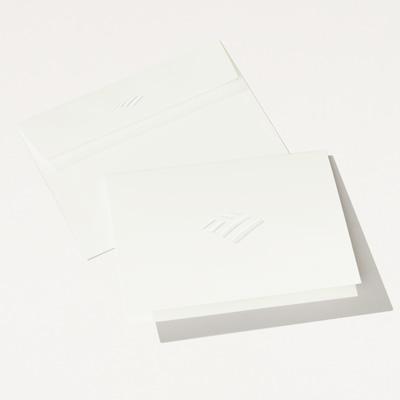 Flagscape Elegant Embossed Folded Note Card - 25 Pack
