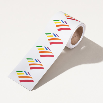 Rainbow Flagscape Sticker - Roll of 100
