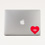 Flagscape Heart Shaped Laptop Decal