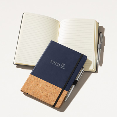 Merrill Cork Journal with Pen