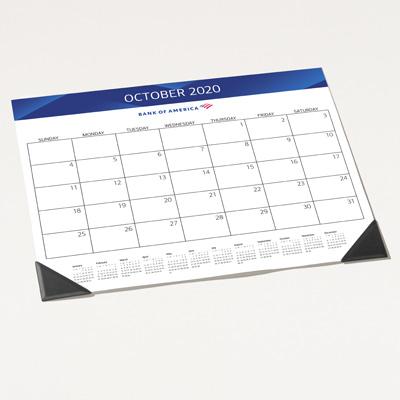 Bank of America 2020 Desk Blotter Calendar