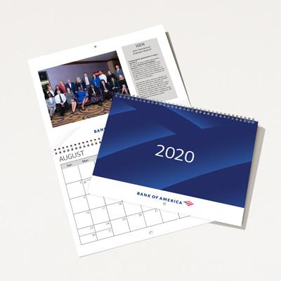 Bank of America 2020 Wall Calendar