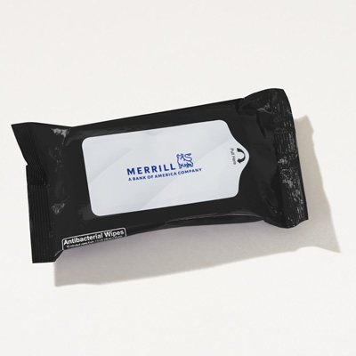 Merrill  Antibacterial Wet Wipe Pack