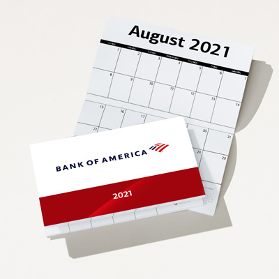 Bank of America 2021 Promotional Calendar - 25 Pack