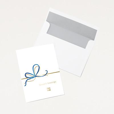 Bull Ribbon Holiday Card - 25 Pack