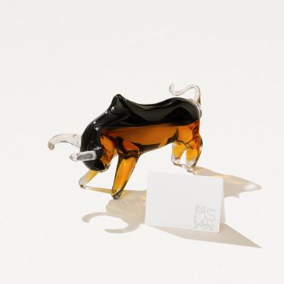 Art Glass Bull