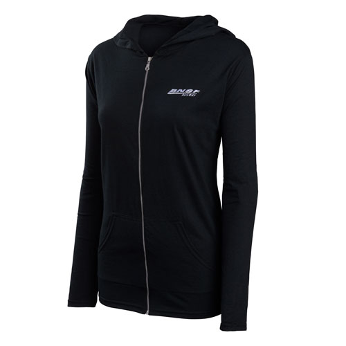 BNSF Ladies' Anvil Tri-Blend Hooded Jacket