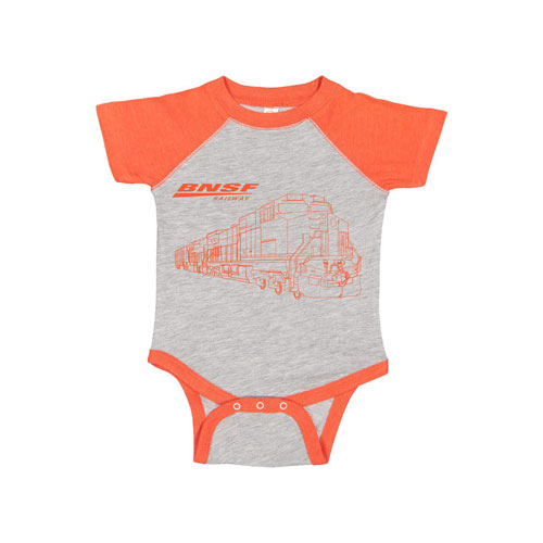 BNSF Rabbit Skins™ Infant Baseball Bodysuit