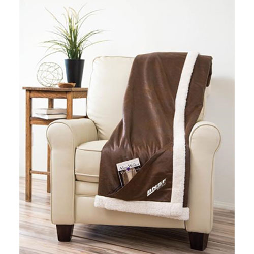BNSF Sherpa-Lined Ranch Throw