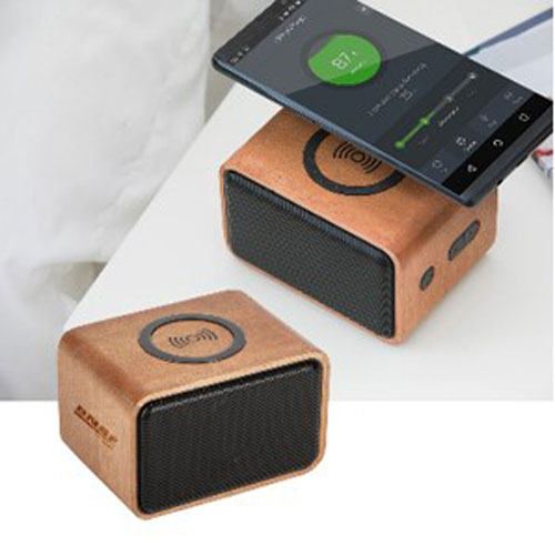 BNSF Real Wood Wireless Speaker/Charger