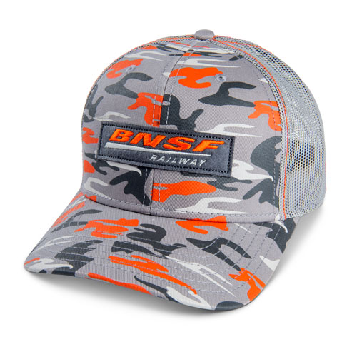 BNSF Orange Burst Camo Mesh Cap