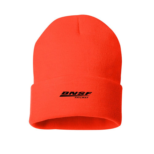 BNSF Blaze Orange Knit Beanie