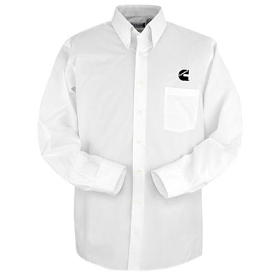 Cummins C White Twill Mens Dress Shirt