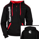 Black/Red Zippered Hoodie