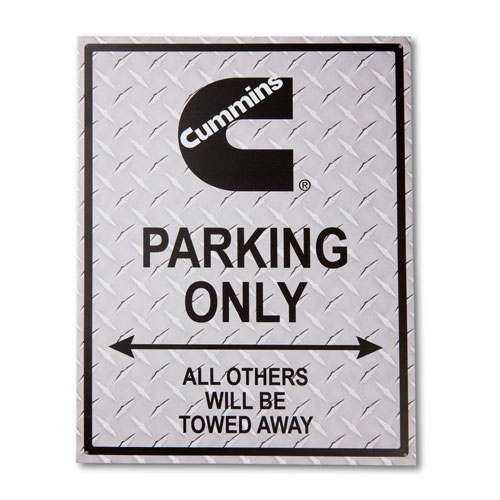 Cummins Reserved Parking Sign