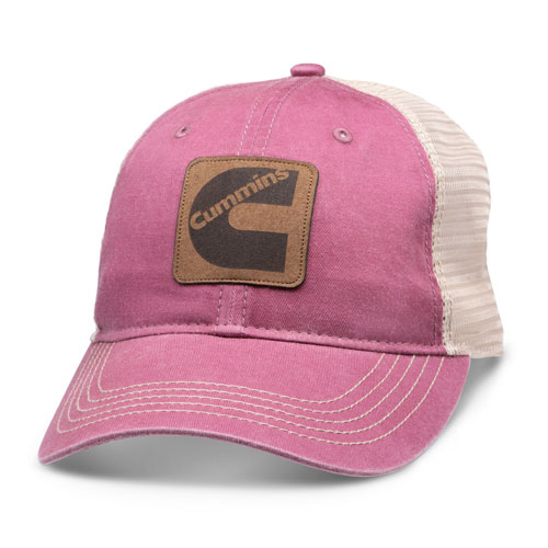 Faux Leather Patch Trucker Cap