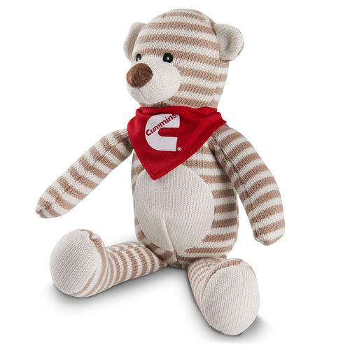 Cummins Striped Plush Bear