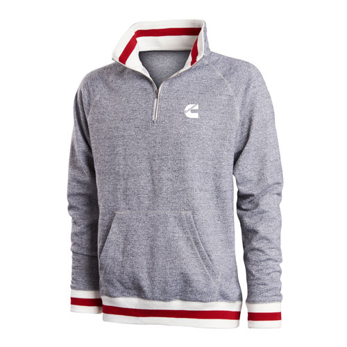 Peppered Fleece Quarter-Zip Pullover