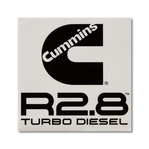 Cummins R2.8 Square Vinyl Decal