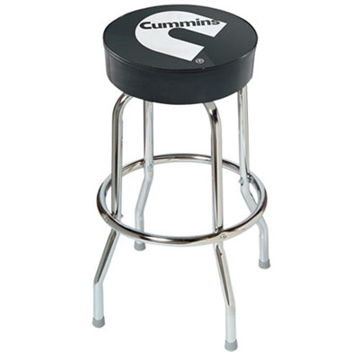 Cummins Black Counter Stool