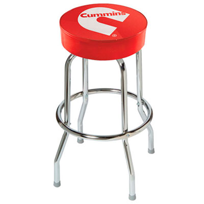Cummins Red Counter Stool