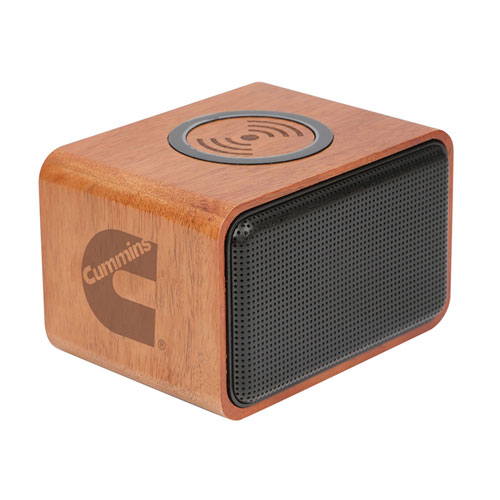 Cummins Wood Bluetooth Speaker with Wireless Charging Pad