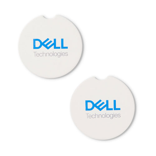 Dell Technologies Absorbent Stone Car Coasters (2 Pack)