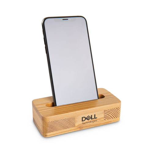 Dell Technologies Wood Phone Amplifier & Stand