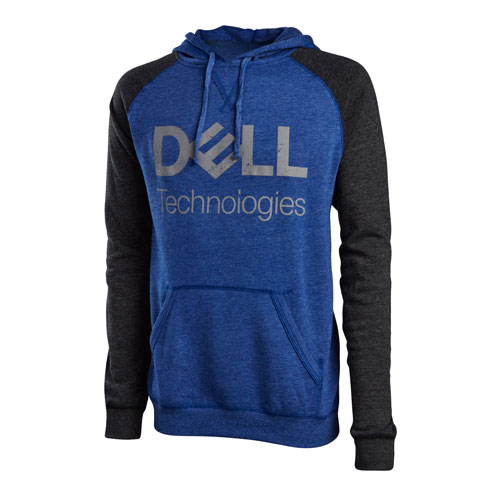 Dell Technologies Heathered Raglan Fleece Hoodie