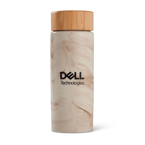 Dell Technologies Celeste Bamboo and Ceramic Bottle, 10 oz.