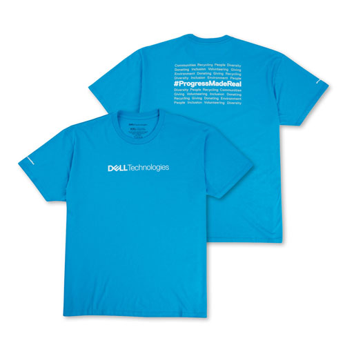 "Dell Technologies Ladie's ""Progress Made Real"" T-shirt"