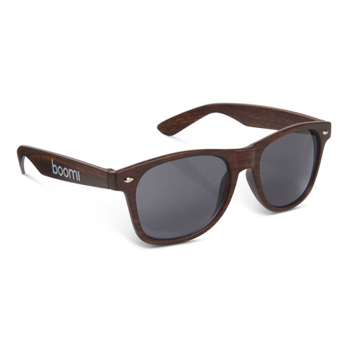 Boomi Wood-Tone Miami Sunglasses