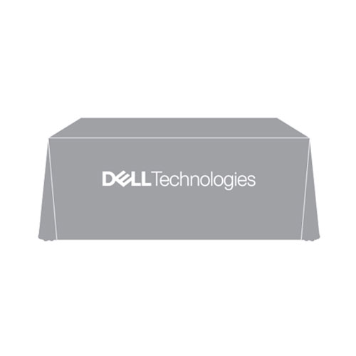 Dell Technologies Grey Table Cloth
